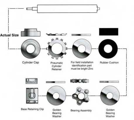 Gas Cylinders Bearing Kitrepair kit for Office chairs