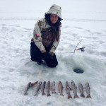 Ali Biernaskie and her boyfriend Jason Gienow had a great start to the ice fishing season at a small lake near Barry's Bay Ontario, reaching their limit in less than a hour!