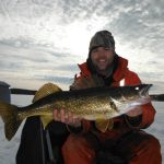 Craig Hare from Brockville caught this 10-poind walleye on a gold spoon tipped with a minnow while fishing on the Bay of Quinte this winter.