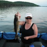 On a family fishing trip to Doe Lake, Wendy Pearson caught this walleye . The biggest one of the holiday.