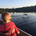 Duncan Gray, 7, reels in a 3lb smallmouth