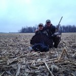 """Just weeks after completing Hunter Safety and Turkey Course, Wyatt, 12, woke up at 2am and made breakfast for his sister and his dad before the hunt. After sitting for 15 minutes, Wyatt had 2 Toms fly out of the roost into the decoys and strutted for a bit. After watching for a few minutes Wyatt decided to take the shot. He shot his first Tom on opening day, it had a 9 1/2"""" beard and 1"""" spurs ."""