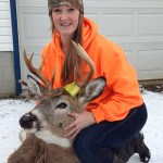 Amber Dowdall of Sudbury has been hunting deer for three years and it finally paid off when she got this seven-point buck - her first deer.