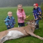 Dave Jonkman of Brantford submitted this photo of his three children -Travis, Karlee, and Logan - excited to share their dad's big nine-pointer taken just outside of Brantford.