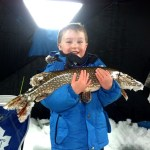 Gerry Podrubszky was on Guelph Lake recently when three-year-old Emmery saw his line go tight and the pole bend. He reeled this in all on his own.