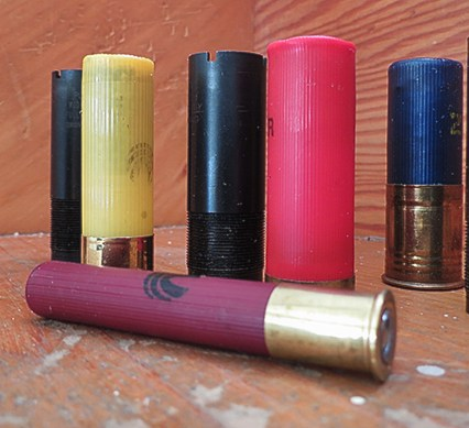 gauge - shot shells on a counter