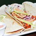 Seared trout tacos