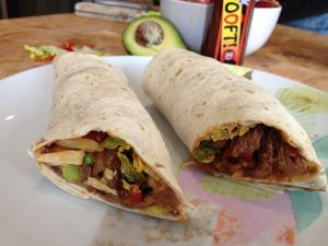 Slow cooked beef tortilla with ooft! CHipotle
