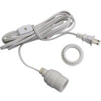 White Lantern Power Cord & Light Socket Set - Standard Base