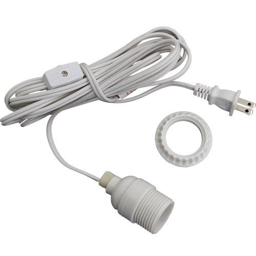 small resolution of white lantern power cord light socket set standard base wiring light socket to extension cord