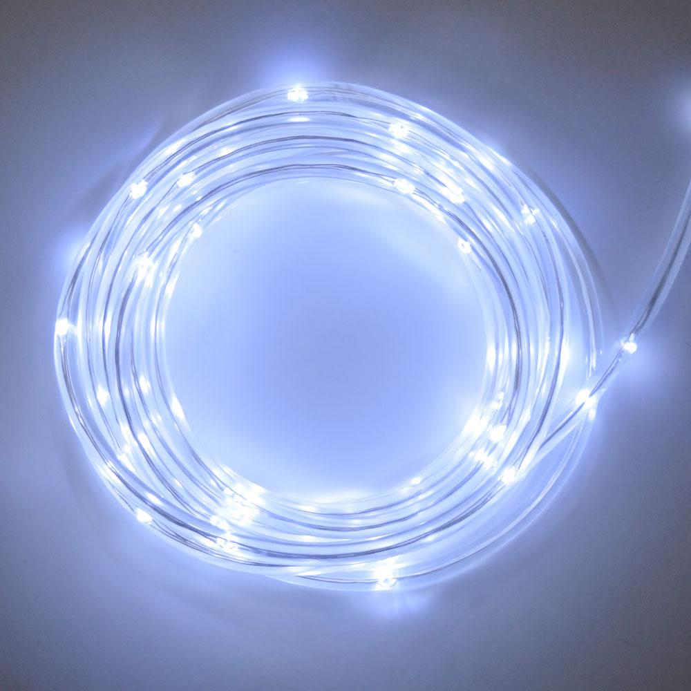 medium resolution of cool white led rope light battery multi function timer 15 feet