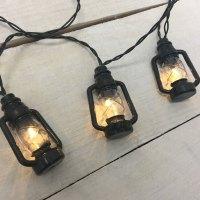 Black Lantern LED String Lights - Battery Operated