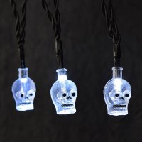 Skull LED Battery Operated Halloween String Lights