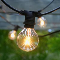 Commercial Outdoor Patio Globe String Lights - 54'