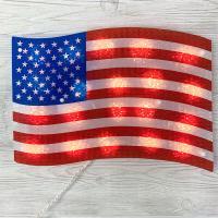 American Flag Window Light Decoration