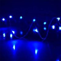 Blue Plug-In LED Dewdrop String Lights