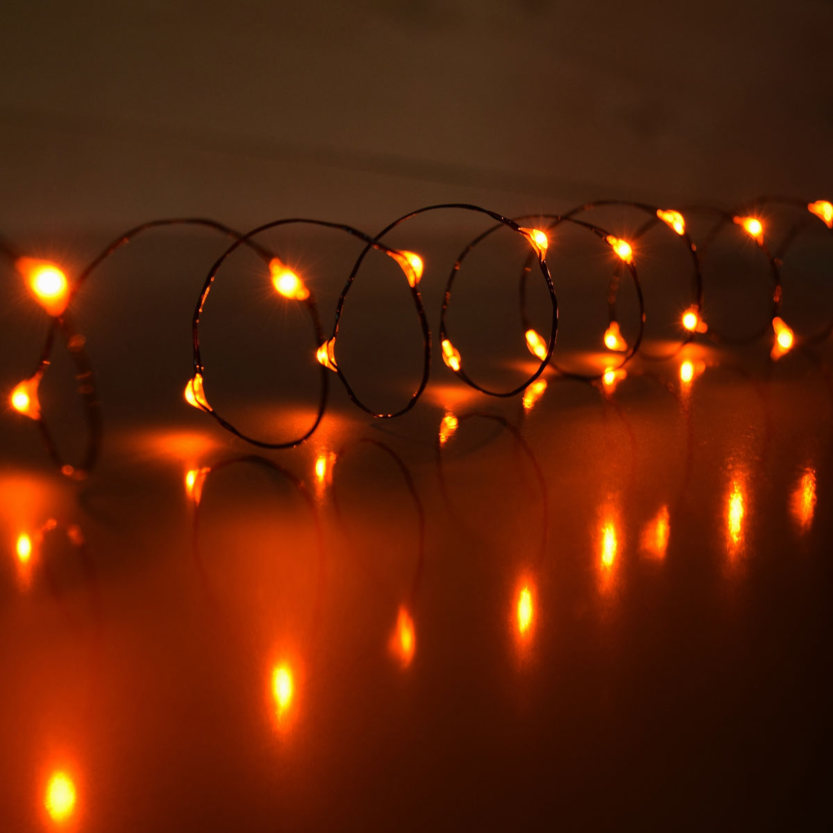 Orange LED Battery Operated Mini Lights