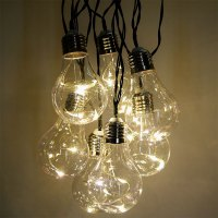 Vintage LED Party String Lights - 10 Lights - 15 feet