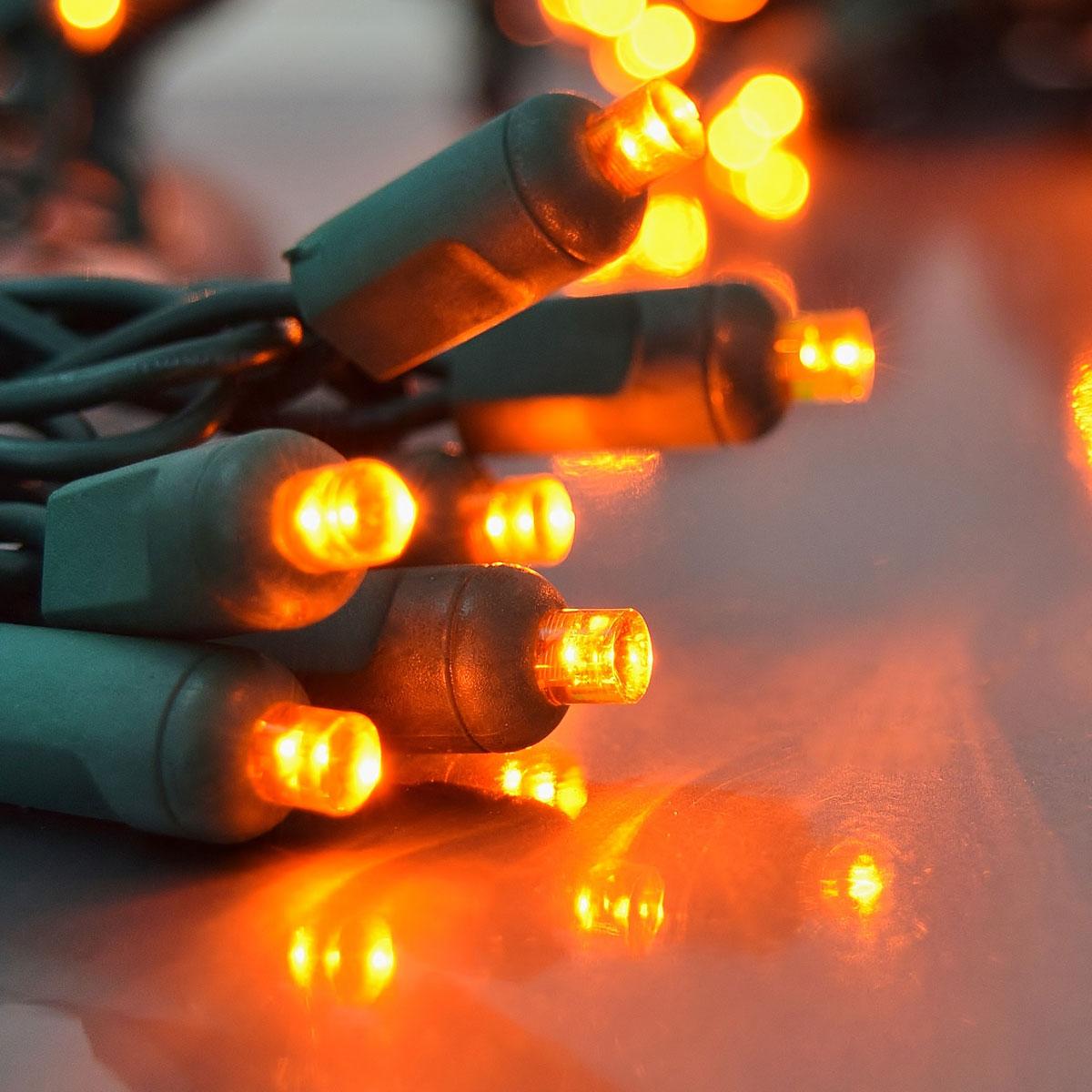 Orange LED Party String Lights  50 Lights