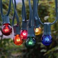 25' Multi-Color C9 Globe String Lights - Christmas Lights