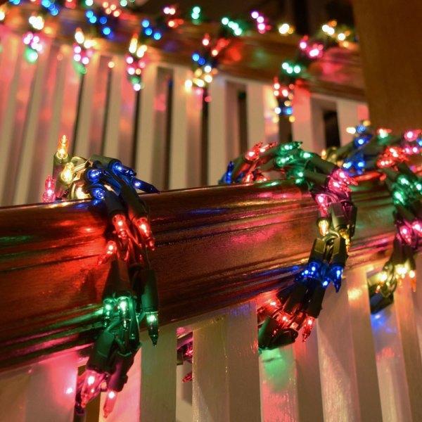 Christmas Garland with Lights