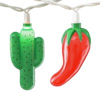 Chili Peppers & Cactus Party String Lights