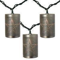 Rustic Tin Can Party String Lights