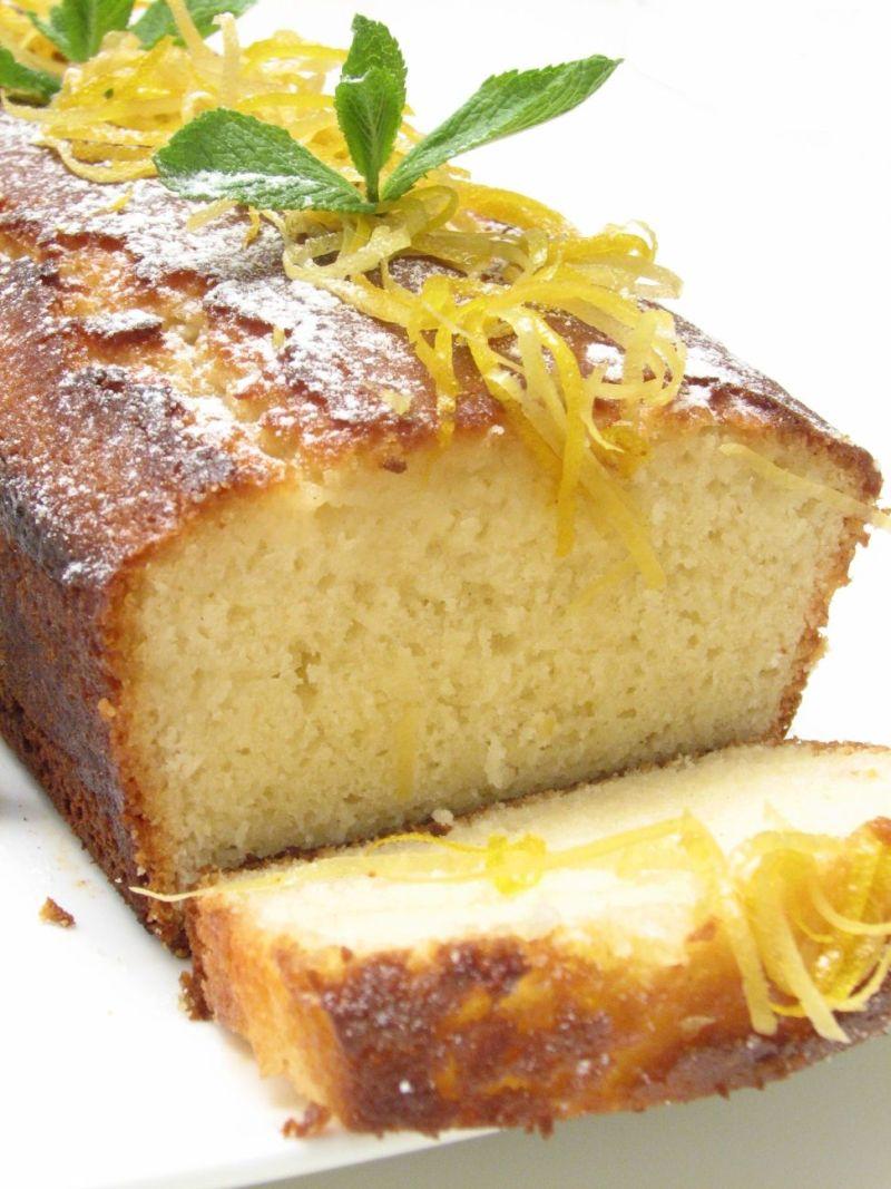עוגת לימון ושקדים