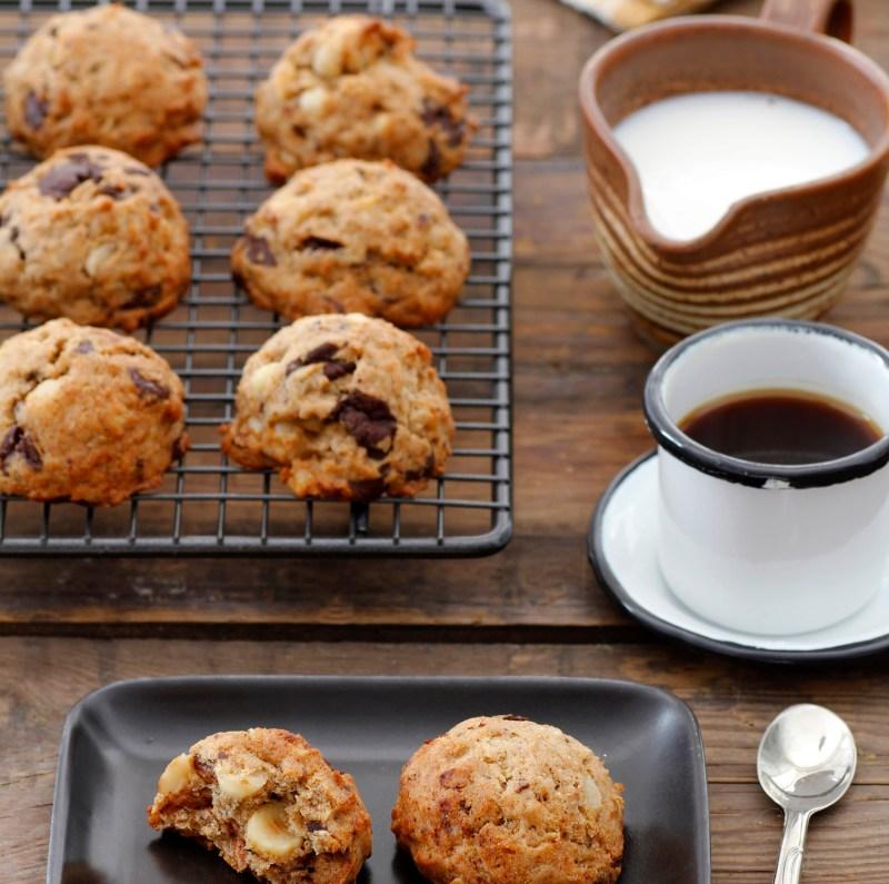 עוגיות שוקולד צ'יפס ובננה טבעוניות