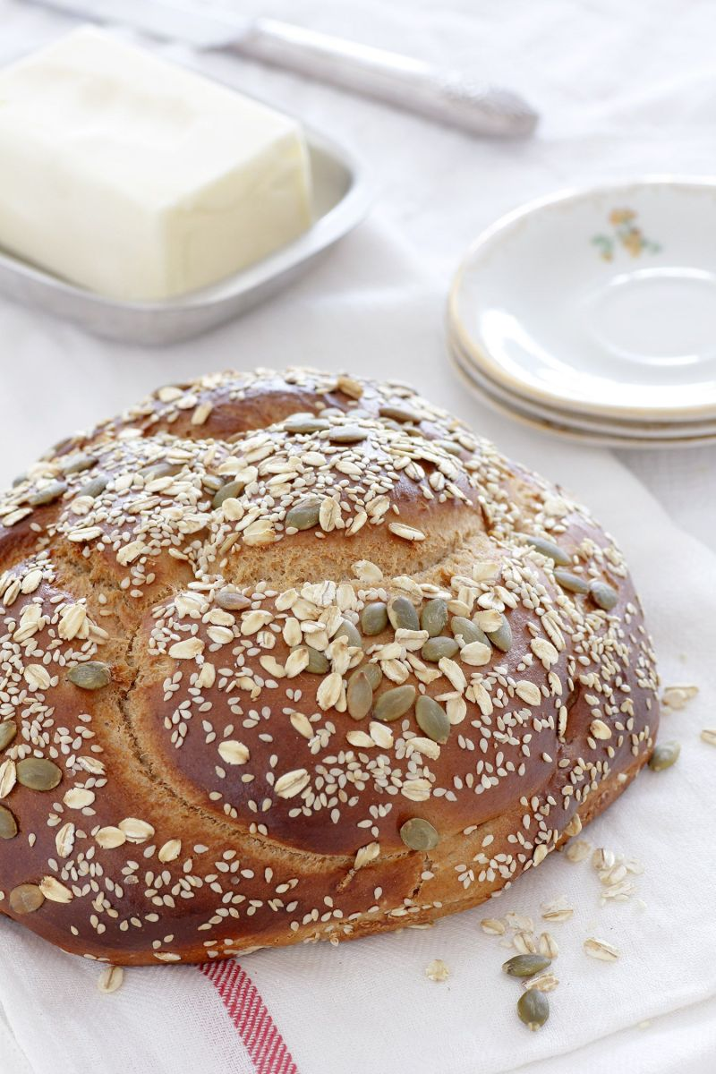 Whole Wheat Challah with Date Syrup