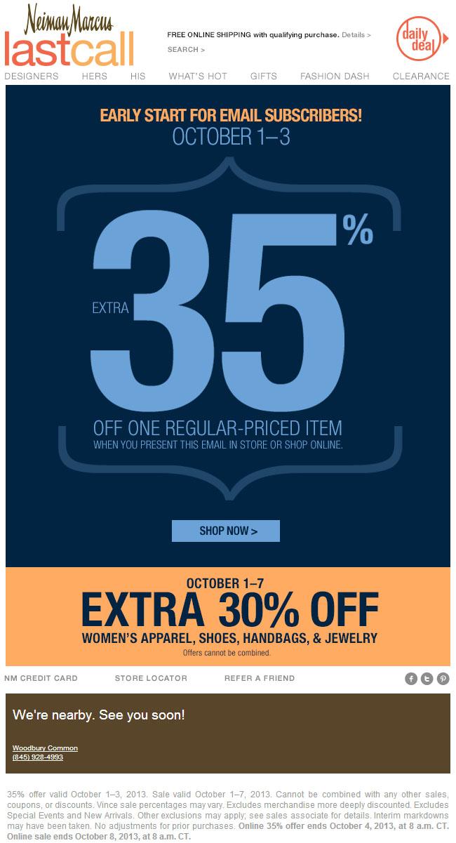 Neiman Marcus Coupons Online Recent Deals