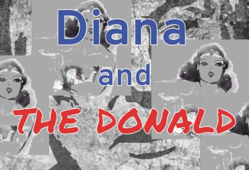 Diana and the Donald abstract images in black and white