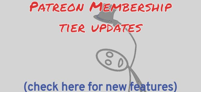 Patreon Membership Tier Updates