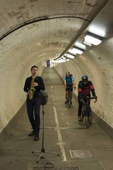 Prof. Trevor Cox in Thames Tunnel