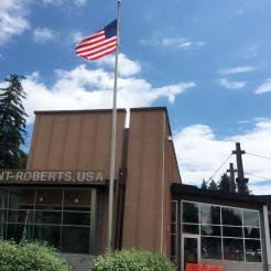 この建物がアメリカ側です。