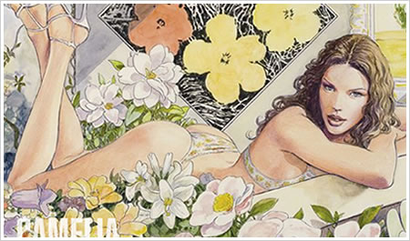 manara illustration for yamamay advertising campaign and catalogue
