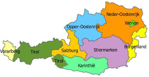 Kaart Oostenrijk