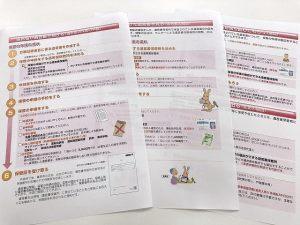 自筆証書遺言書保管の手続きのパンフレット