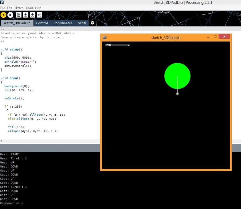 3Dpad Processing