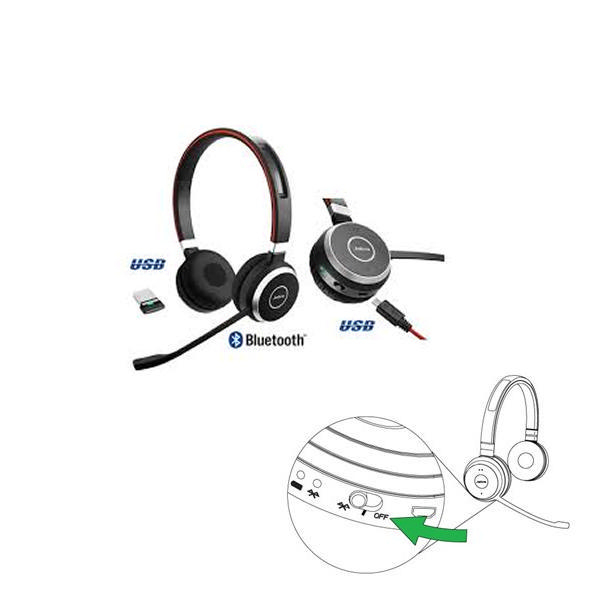 Jabra Evolve 65 MS Duo Bluetooth Headset 52657