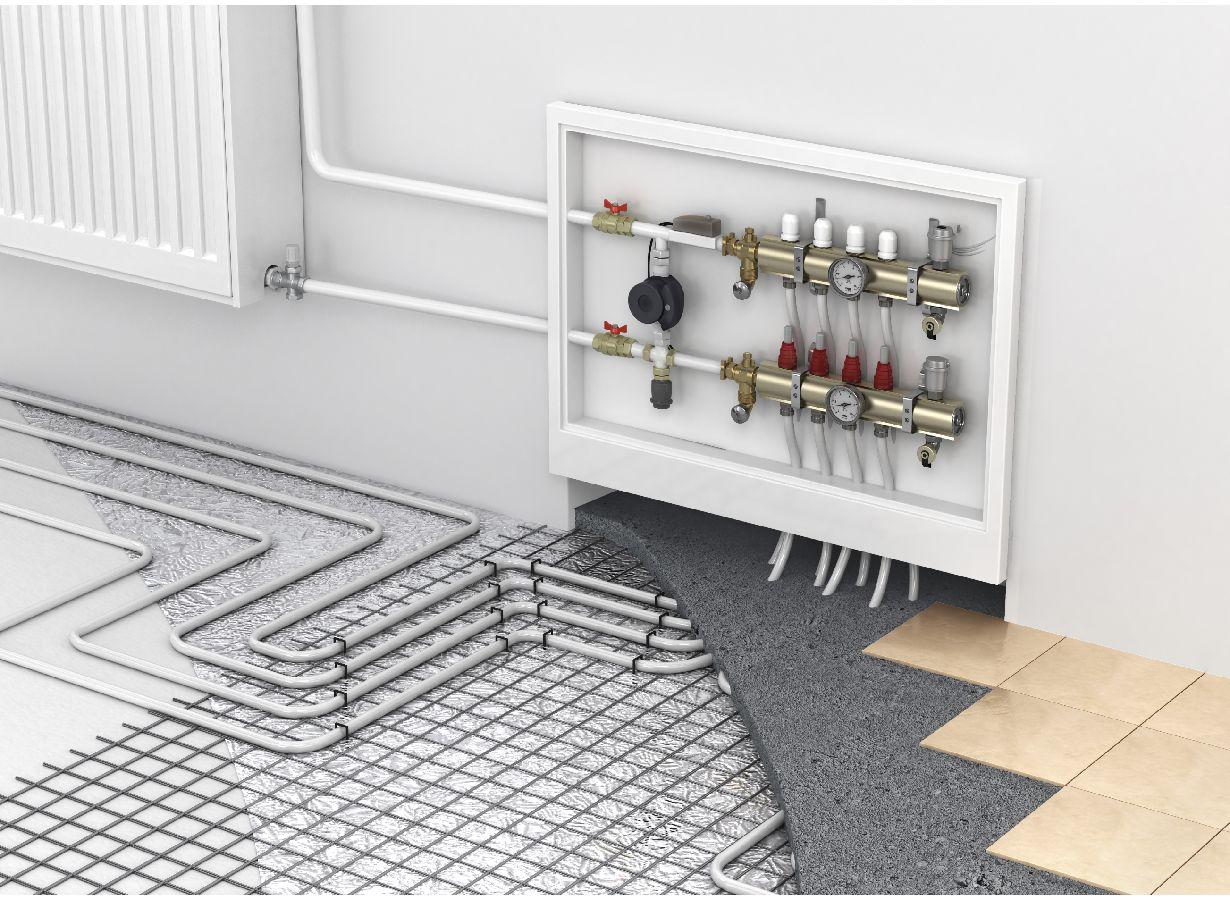 hight resolution of radiant floor heating