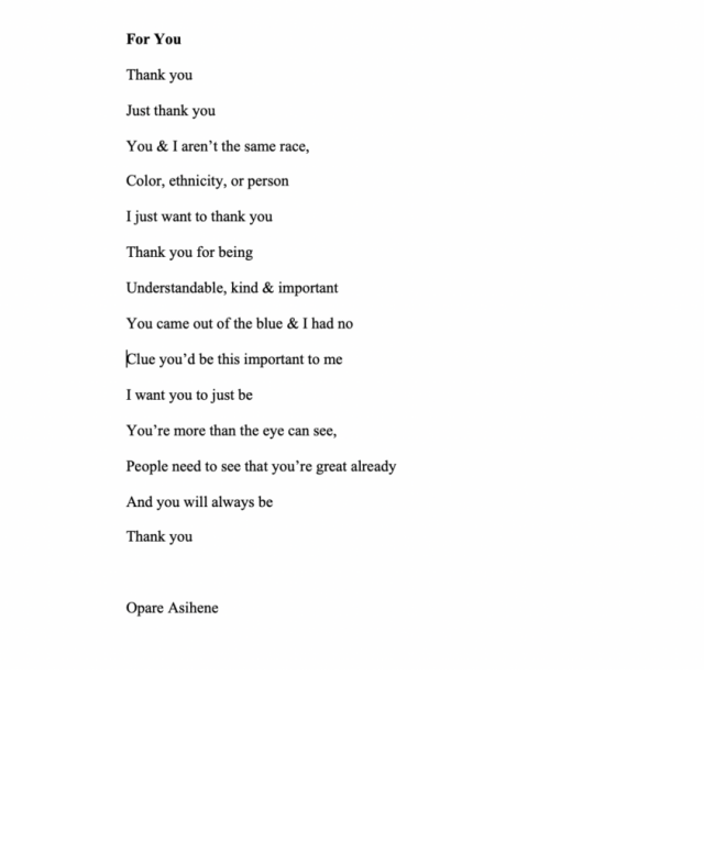 A poem wrote by me, the true art of poetry.