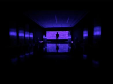 crossing the line in dark