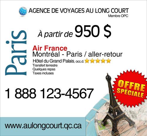 Exemples De Publicité D'agent De Voyages