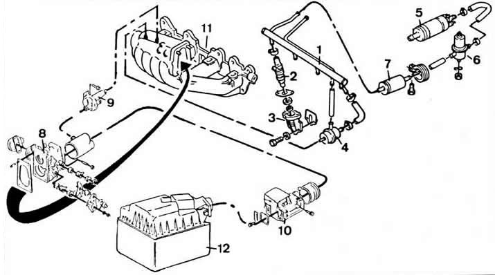 Система впрыска топлива «LE-Jetronic» (Опель Кадет Е 1985