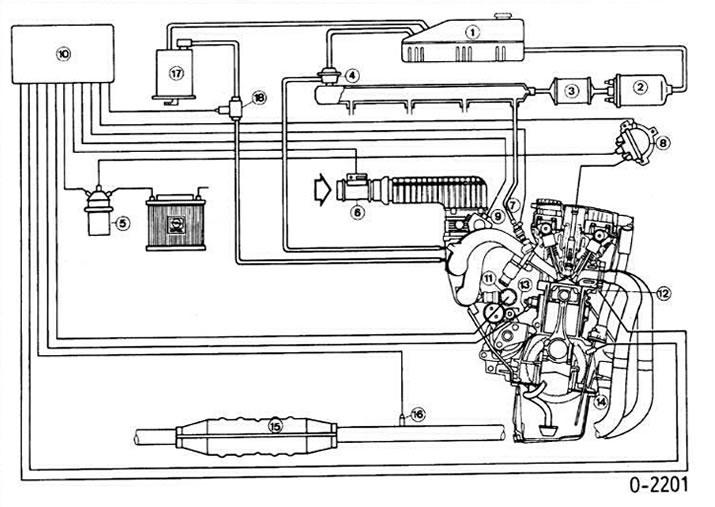 Система впрыска Motronic (Опель Вектра А 1988-1995