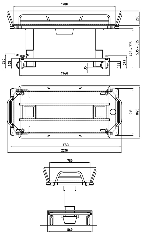 Atlas Bariatric Shower Trolley  OpeMed