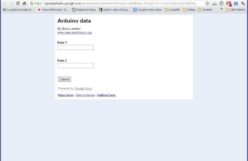How Send Data From Arduino To Google Docs Spreadsheet