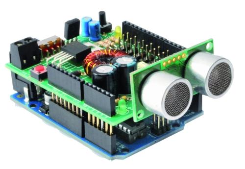 Robot shield for arduino open electronics