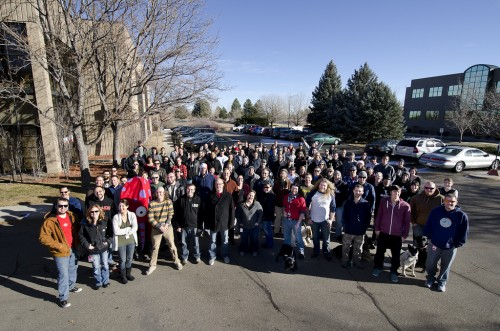 Sparkfun group photo in December 2011